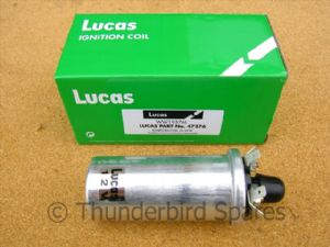 Ignition Coil 12v, Genuine Lucas, Triumph &  BSA  1968-1978, LU47276